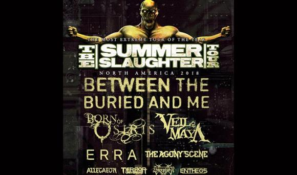 Between The Buried and Me, Born Of Osiris, Veil Of Maya, Erra, The Agony Scene, Allegaeon, Entheos & Soreption at Irving Plaza