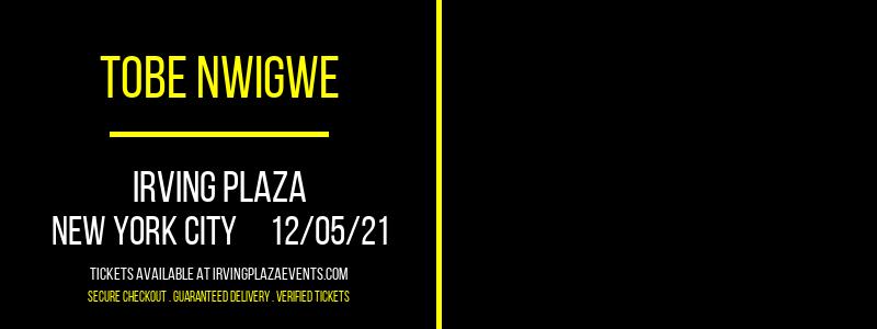 Tobe Nwigwe at Irving Plaza